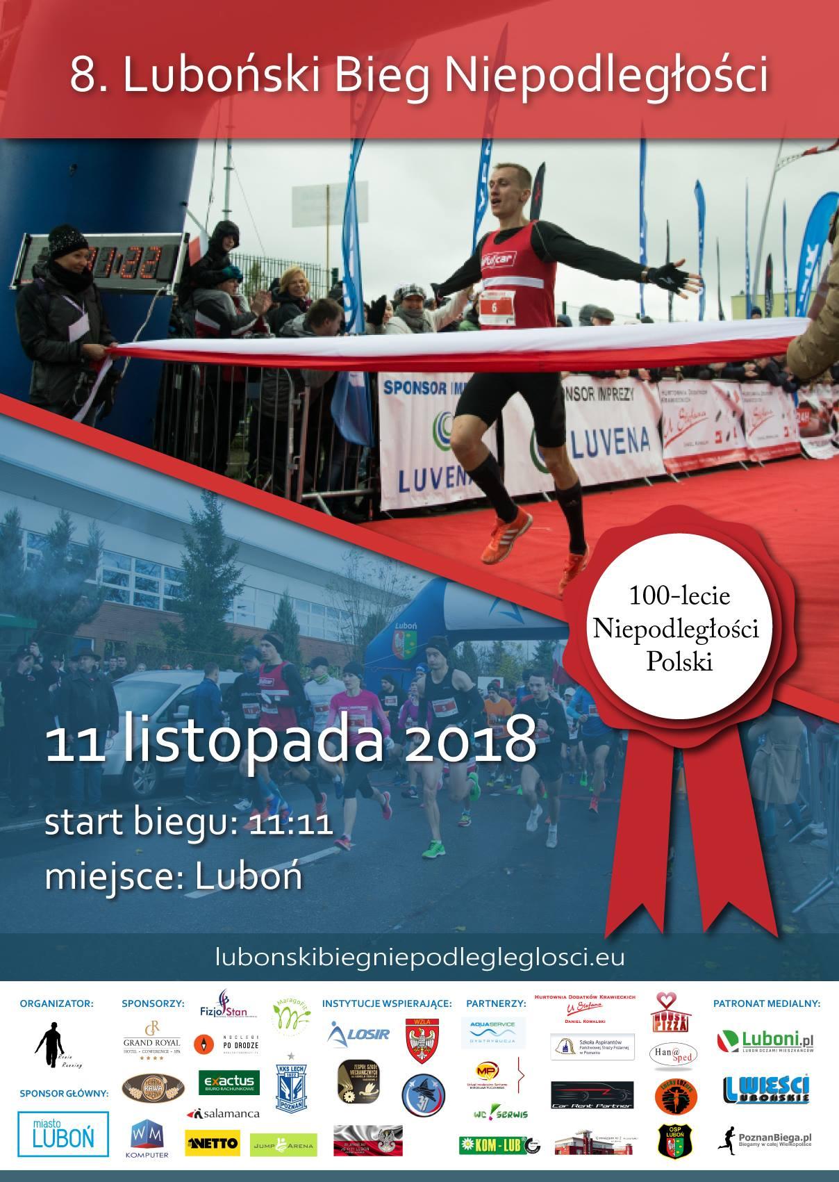 8. Luboński Bieg Niepodległości już w najbliższą niedzielę!