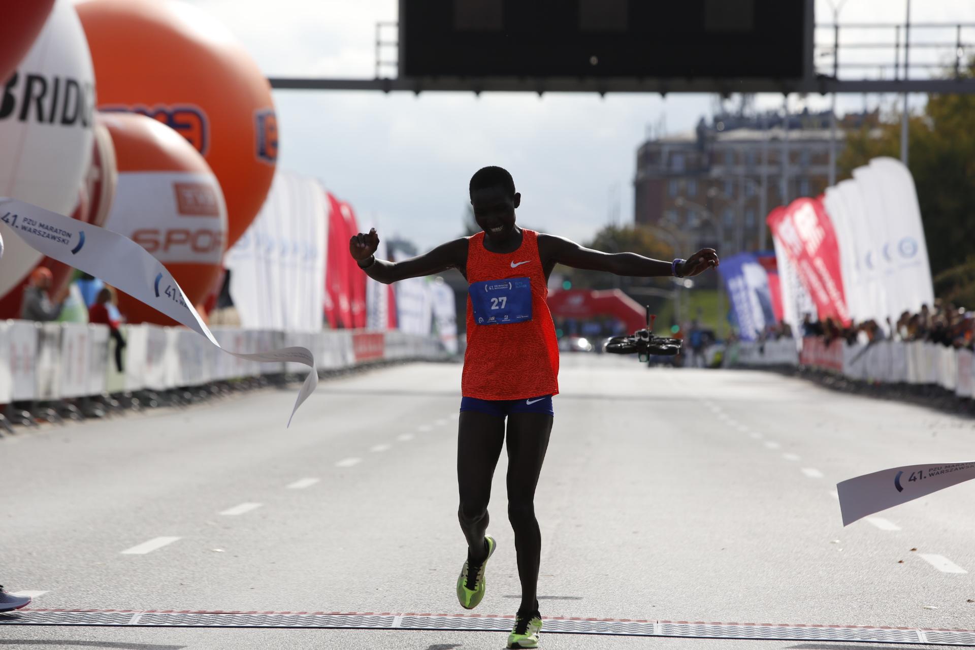 41. PZU Maraton Warszawski. Kenijka z rekordem i autem!