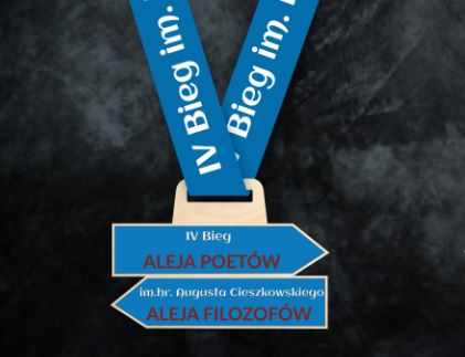 Nasz Patronat. Prezentujemy medal IV Biegu im. hr. Augusta Cieszkowskiego! Już 4 września!