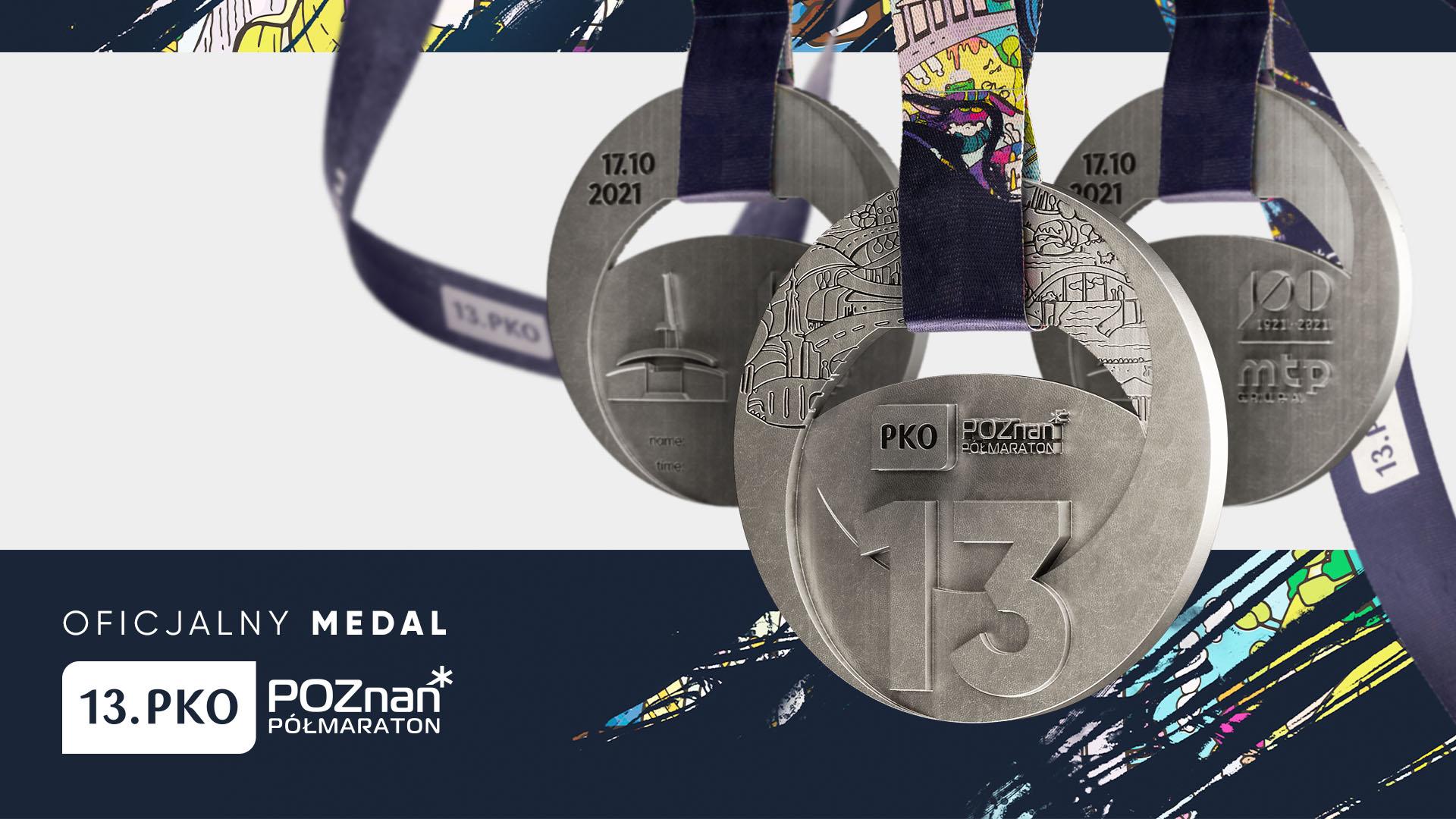 Medal 13.PKO Poznań Półmaratonu upamiętni 100-lecie MTP