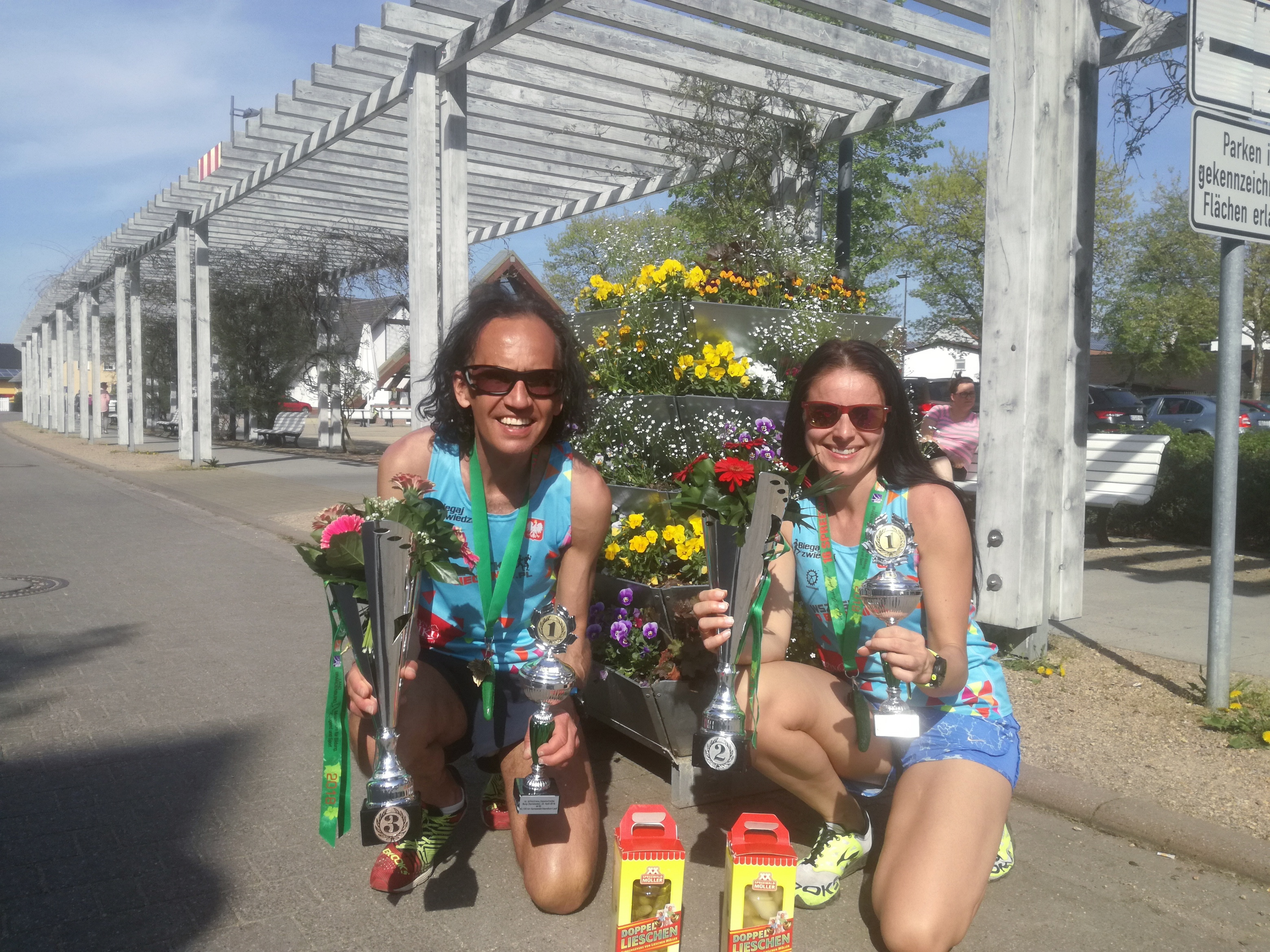 Nasi reprezentanci na podium maratonu w Brandenburgii