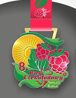 """Nasz Patronat. Tak """"smakuje"""" medal 8. Biegu Czekoladowego – Smak Lata!"""