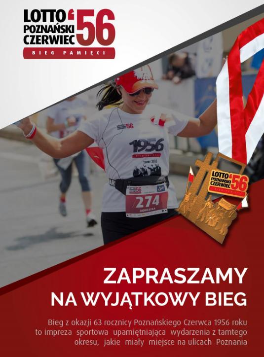 Zabiegamy o pamięć! Druga  edycja biegu Lotto Poznański Czerwiec'56