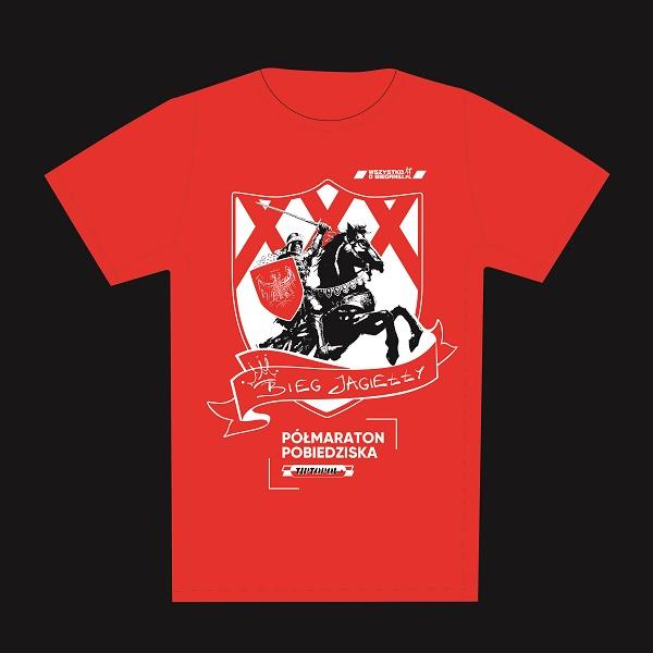 Nasz Patronat. Jubileuszowa koszulka dla uczestników 30. Biegu Jagiełły Tip Topol Półmaratonu Pobiedziska!