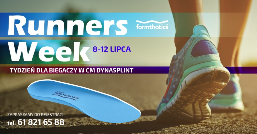 Nasz Patronat. W dniach  8 – 12.07.2019 zapraszamy na Runners Week czyli Tydzień dla Biegaczy w Centrum Medycznym DYNASPLINT.