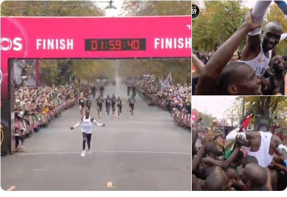 Jest!!! Eliud Kipchoge złamał barierę 2 godzin w maratonie!