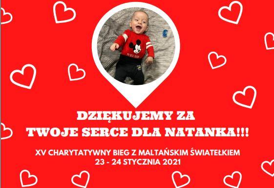 Nasz Patronat. XV Charytatywny Bieg z Maltańskim Światełkiem. Medal dla  Natanka!