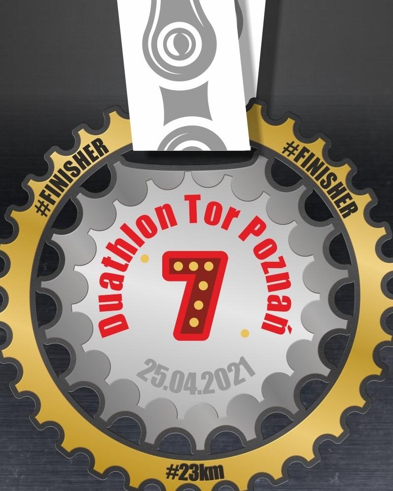 Nasz Patronat. Wyjątkowy medal 7. Trigar Duathlon Tor Poznań!